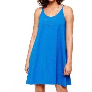 Lou & Grey blue dress size small tank dress EUC